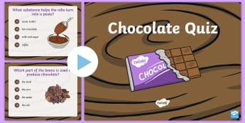 Chocolate Quiz PowerPoint - Fairtrade, chocolate, quiz, assessment, game, cocoa, fair trade, sustainable, sustainability, farmin