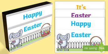 Easter Light Box Inserts - Australia, Easter, Light box, signs and labels, classroom management, EYLF, Foundation, Kindergarten