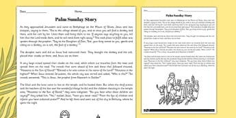 Palm Sunday Story - christianity, religion, christian, stories
