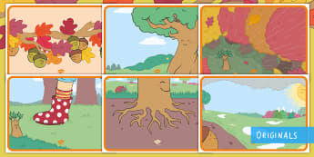 Little Acorns Display Posters - EYFS, Twinkl Originals, Twinkl Fiction, Autumn, Seasons, Plants and Growth, Growing, seeds, acorn, o