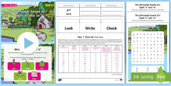 Year 1 Term 2A Week 4 Spelling Pack - Spelling Lists, Word Lists, Spring Term, List Pack, SPaG