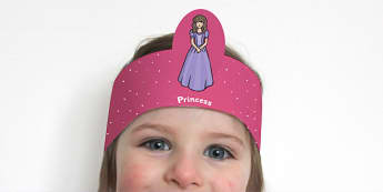 The Princess and the Pea Role Play Headbands - stories, role play
