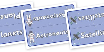 Editable Class Group Signs (Space) - Space, group signs, group labels, group table signs, table sign, teaching groups, class group, class groups, table label