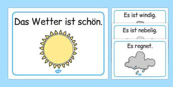 Weather Display Posters German - german, Weather, Display, Poster, wetter