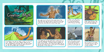 Māori Creation Myth Sequencing Activity Sheets, worksheet