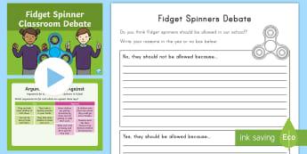 K-2 Fidget Spinners Classroom Debate Activity Pack -  Fidget Spinner, Fidget Spinners, fidget spinner, fidget spinners, fidget spinners debate, fidget sp