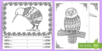 New Zealand Birds Mindfulness Activity Pack - New zealand, mindfulness, NZ Birds, animals, colouring