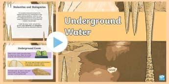 Underground Water PowerPoint  - Down the Bann in a BubbleMarble Arch CavesStalactitesStalagmitesUnderground waterRiver Bann