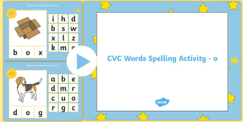 CVC Words 'O' Spelling PowerPoint - cvc words, spelling, the letter o, sounds, english, powerpoint