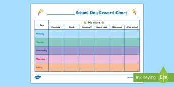 School Day Reward Chart - School Day Reward Chart - star, reward chart, reward, chart, awards, award chart, behaviour manageme