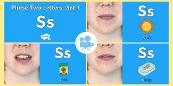 Phase 2 Phonemes : Set 1 's' Video - phonics, satp, sounds, satpin, Twinkl Go, twinkl go, TwinklGo, twinklgo