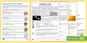 Year 5 Reading 2 Revision Activity Mat Pack 2 - Comprehension, Inference, Retrieval, Story, Narrative, Non-fiction, Poetry, Poem, Science, Space, Su