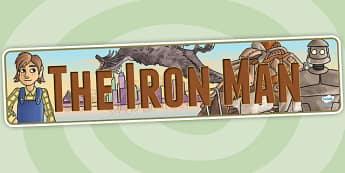The Iron Man Display Banner - iron man, story books, superheroes