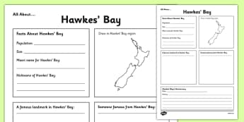 All About Hawkes Bay Writing Frame - Hawkes' Bay, Anniversary, city, research