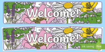 Floral Welcome Display Banner