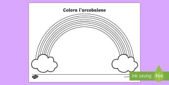 I colori dell'arcobaleno Fogli da colorare - folgi, da, colorare, colori, dell, del, arcobaleno, italiano, italian, materiale, scolastico