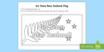 Go Team New Zealand Colour a Flag Activity - Team New Zealand, Emirates Team New Zealand, Sailing, americas cup, bermuda, new zealand, sport