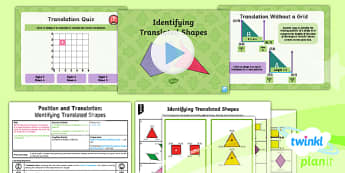 PlanIt Y5 Position and Direction Lesson Pack  (3) Identifying Translated Shapes - Position and Direction, coordinates, translation