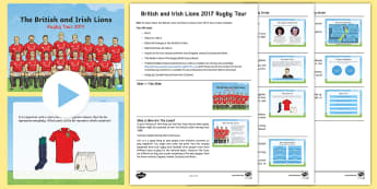 British and Irish Lions Rugby Tour 2017 Assembly Pack - rugby union, New Zealand, PE, sport, current affairs, events, famous people