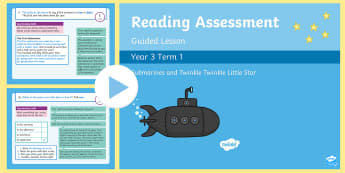 Year 1 Reading Assessment Term 3 Paper 1 Guided Lesson PowerPoint - Year 1 Reading Assessment Guided Lesson PowerPoints, reading, read, assessment, test, powerpoint, ye