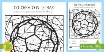 Colorea con letras: La letra P - juego lectoescritura, juego lecto, juego didáctico, lecto, leer, lectura, sonidos, lecto-escritura,
