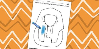 Design An Ancient Egyptian Death Mask Activity - egypt, DT, KS2