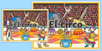 Cartel El circo