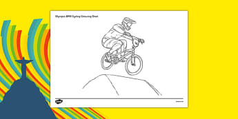 Rio 2016 Olympics BMX Cycling Colouring Sheets - rio 2016, 2016 olympics, rio olympics, bmx cycling, bmx, cycling, colouring sheets