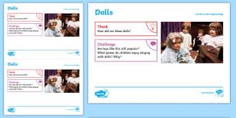 Toys: Dolls KS1 Exploration Sheet - toys, dolls, play, imagination, KS1, Imagine (KS1)