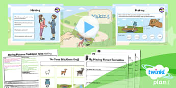 D&T: Moving Pictures: Traditional Tales: Making KS1 Lesson 6