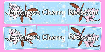 Japanese Cherry Blossom Display Banner - japanese, cherry blossom, display banner, display, banner, cherry, blossom