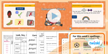 PlanIt English Y1 Term 3B W4: Compound Words Spelling Pack - Spellings, Year 1, spell, write, writing