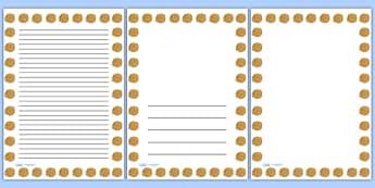 Summer Marigold Portrait Page Borders- Portrait Page Borders - Page border, border, writing template, writing aid, writing frame, a4 border, template, templates, landscape