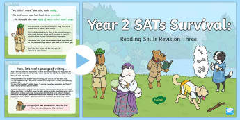 Year 2 SATs Survival: Reading Skills Revision PowerPoint 3 - SATs Survival Materials Year 2, SATs, assessment, 2017, English, SPaG, GPS, grammar, punctuation, sp