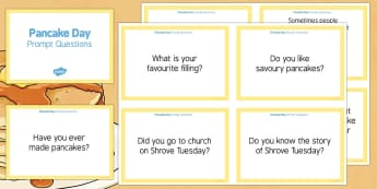 Pancake Day Prompt Questions - Elderly, Reminiscence, Care Homes, Pancake Day