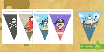 Pirate Display Bunting - pirate, display, bunting, decor, flags