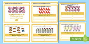 Number Bonds to 10 Stories Challenge Cards Arabic Translation-Arabic-translation