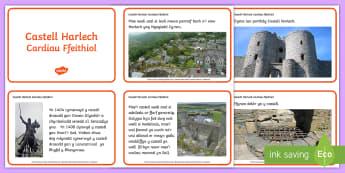 Castell Harlech Cardiau Ffeithiol - castell, castle, Harlech castle, castell harlech, Gogledd Cymru, North Wales, Owain Glyndwr, Edward