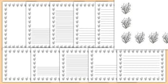 Hazel Tree Themed Page Borders - hazel tree, themed, page borders, page, borders