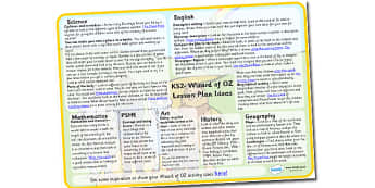 Wizard of OZ Lesson Plan Ideas KS2-wizard of oz, lesson plan, lesson ideas, lesson plan ideas, KS2 lesson plan, KS2 lesson ideas, KS2, lessons
