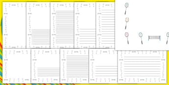 Rio 2016 Olympics Badminton Page Borders - Badminton, Olympics, Olympic Games, sports, Olympic, London, 2012, page border, border, writing template, writing aid, writing, activity, Olympic torch, events, flag, countries, medal, Olympic Rings, mascots