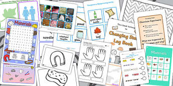 Materials Activity Pack - science, investigation, activities