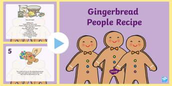Gingerbread People Recipe  PowerPoint  - Gingerbread People Recipe - gingerbread, people, ginger bread, gingerbread people, gingerbread recip