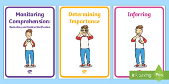 Comprehension Instruction 1st/2nd Class Display Posters - New, Primary Language Curriculum, Comprehension Strategies, Skills, Reading, Building Bridges,Irish