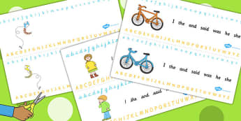 Alphabet Strips to Support Teaching on Titch - a-z, a-z strip, visual aid, writing aid
