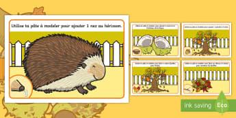 Sets de pâtes à modeler : Les nombres d'automne - Pâte À Modeler, mathématiques, Numération, Motricité Fine, Activité Physique, Cycle 1, Cycle 2