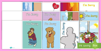 I'm Sorry Gift Card Template - apology, apologise, greeting card, sorry, book