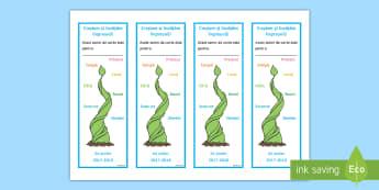 Creștem și învățăm împreună Semne de carte editabile - semne de carte, creste, invatam, impreuna, prima zi de scoala, activitate, incepe scoala,Romanian