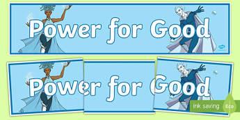 Anti Bullying Week Superhero 'Power for Good' Banner