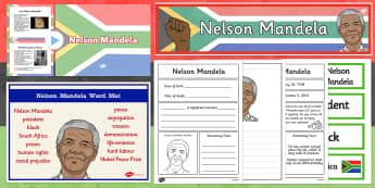 Nelson Mandela Resource Pack KS1 - nelson mandela, Nelson Mandela Day, pack, ks1